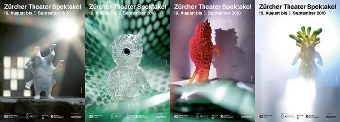 Hans Joerg Walter Zuercher Theater Spektakel 2010 Plakat Kaijus