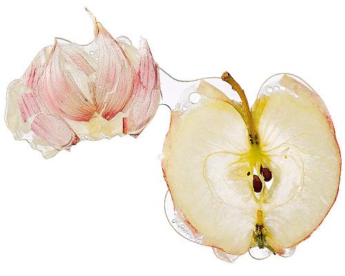 Hans Joerg Walter frisch gepresst Knoblauchzehe Apfel