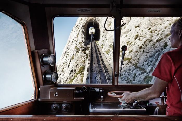 Noe Flum Bergbahn Pilatus-Bahn Zahnradbahn Alpnachstad