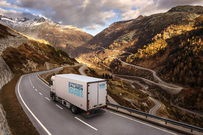 Noe Flum Schweizer Salinen Salz Transport  LKW Pass