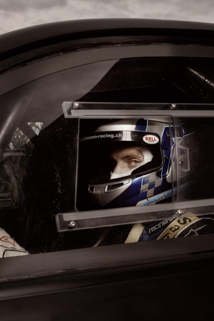 Noe Flum Roger Schnellmann Mitsubishi Lancer Evolution VIII Racing Helm