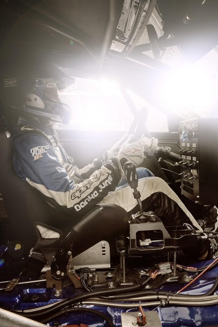 Noe Flum Roger Schnellmann Mitsubishi Lancer Evolution VIII Rennwagen Cockpit Steuer