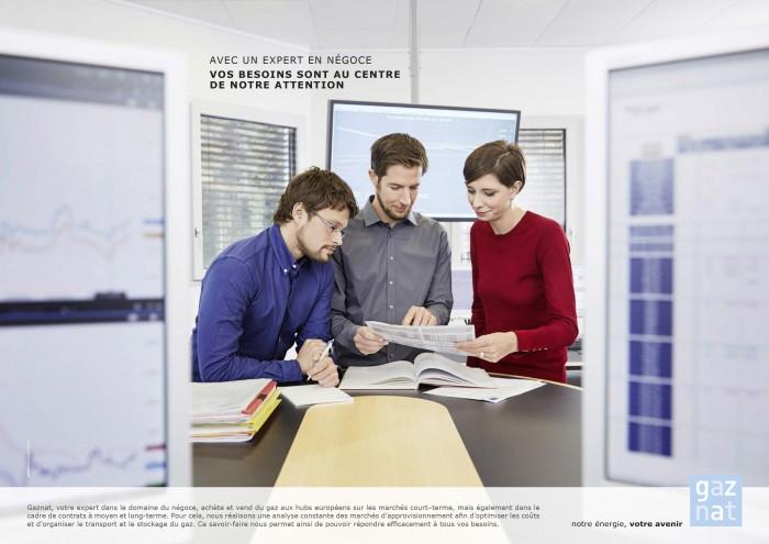 Markus Bertschi Gaznat Erdgas Handel Mitarbeiter Bildschirm Besprechung