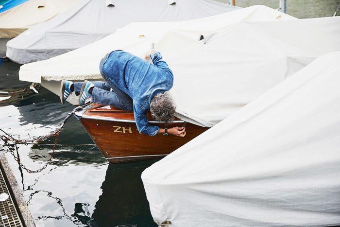 Markus Bertschi Mobiliar Versicherung PK Motorboot Bootsverdeck