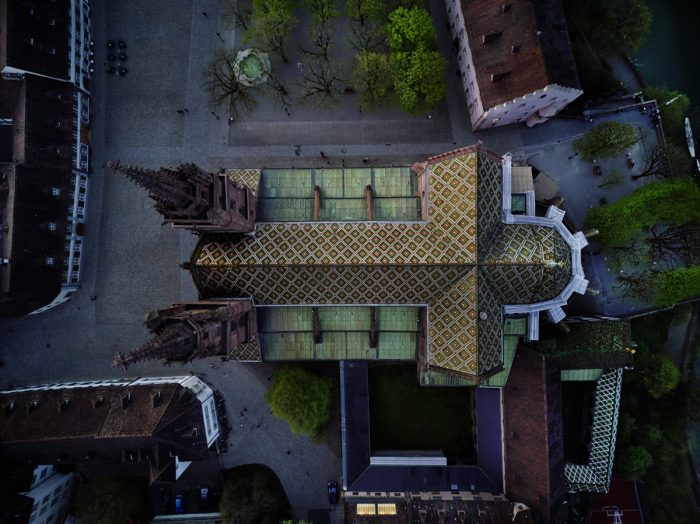 Noe Flum Basler Münster Luftaufnahme Biberschwanzziegel