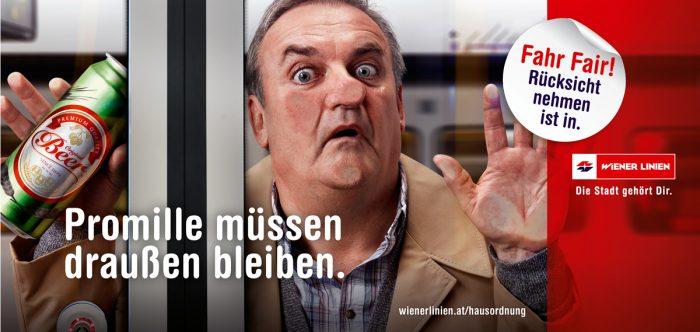 Markus Roessle Wiener Linien Fahr Fair Trinker Promille