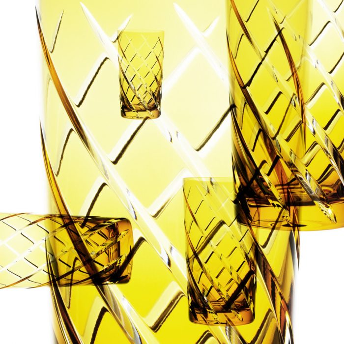 Felix Streuli Nachtmann Glaeser Glas gelb