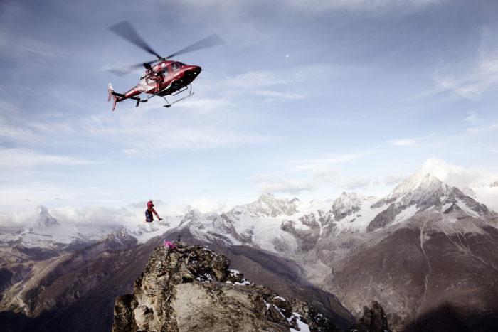 Noe Flum Air Zermatt Bergrettung Seilwinde Hubschrauber Helikopter Bell 429