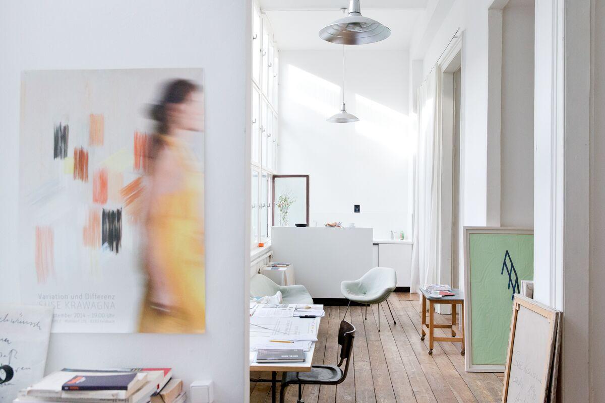 Markus Roessle Suse Krawagna Künstlerin Malerin Atelier Wien Kunst Bilder