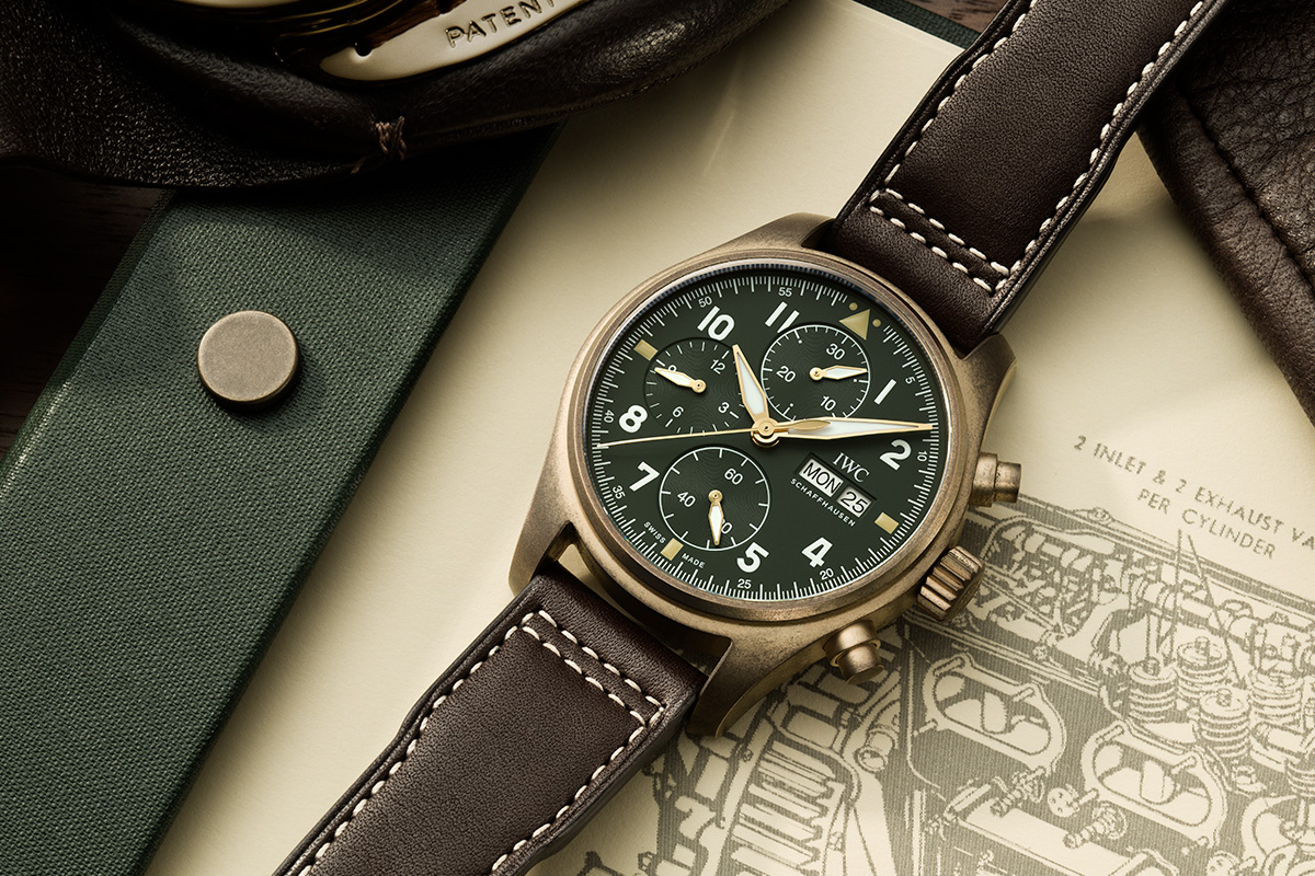 Felix Streuli IWC Pilot's Watch Chronograph Spitfire Bronze Gehaeuse