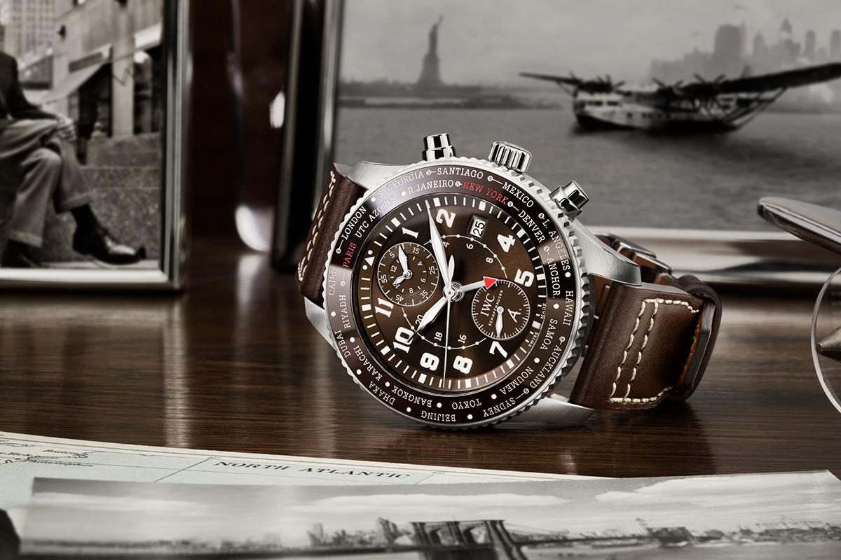 Felix Streuli IWC Pilot's Watch Timezoner Chronograph Edelstahl