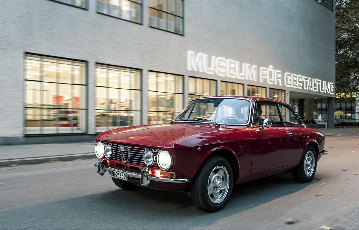 Felix Streuli Oldtimer 1972 Alfa Romea Giulia Coupe 2000 GT Museum für Gestaltung
