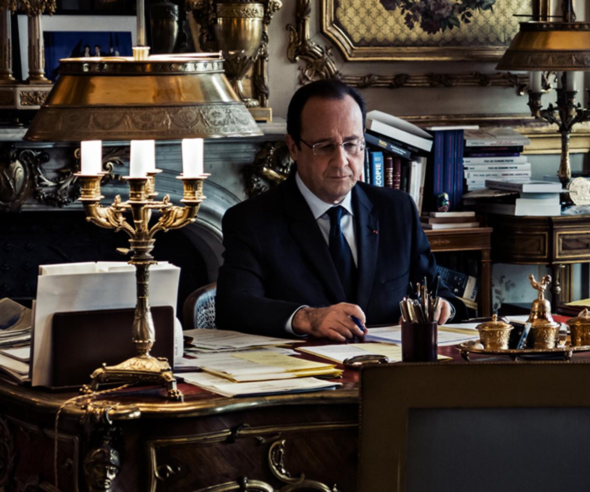 Remo Buess François Hollande Französischer Ex-Staatspräsident Arbeitszimmer
