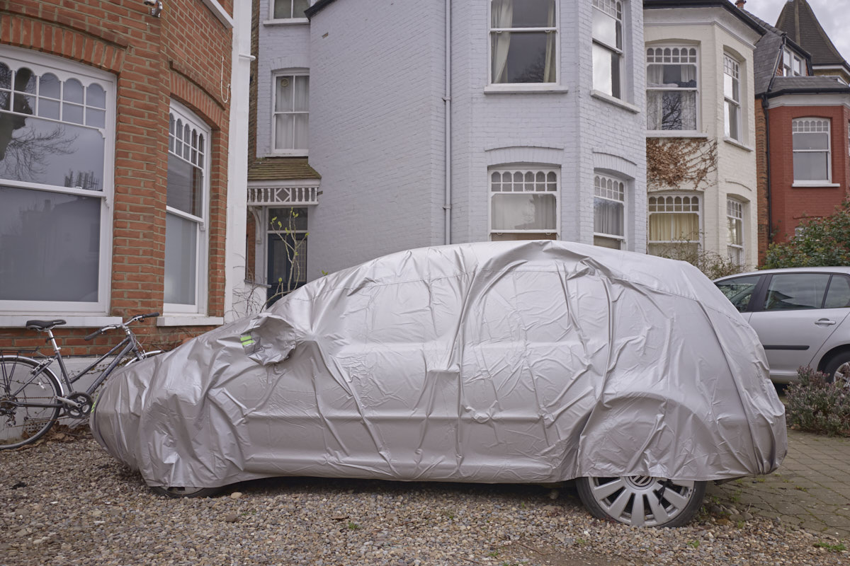 Mischa Haller Zone three London suburbia car cover