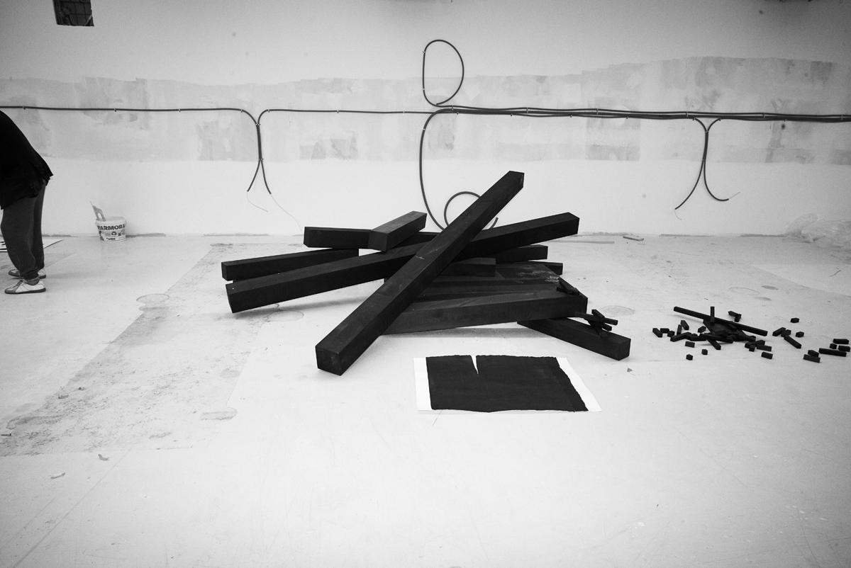 Simon Habegger Zuerich Magazin Fotograf Michel Comte sculpture studio