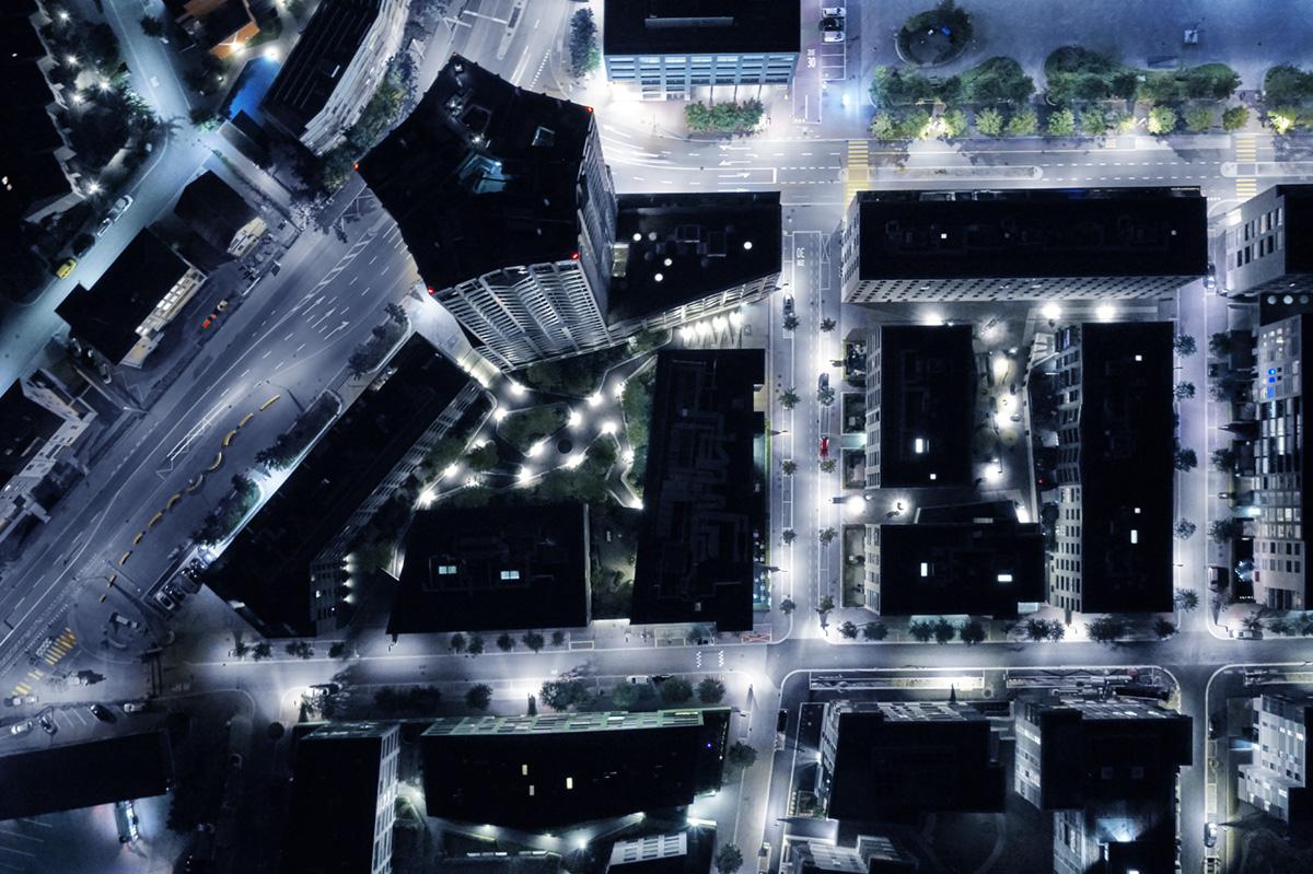 Noë Flum Elektrizitätswerke des Kantons Zürich EKZ Limmattal Nachtaufnahme Immobilien