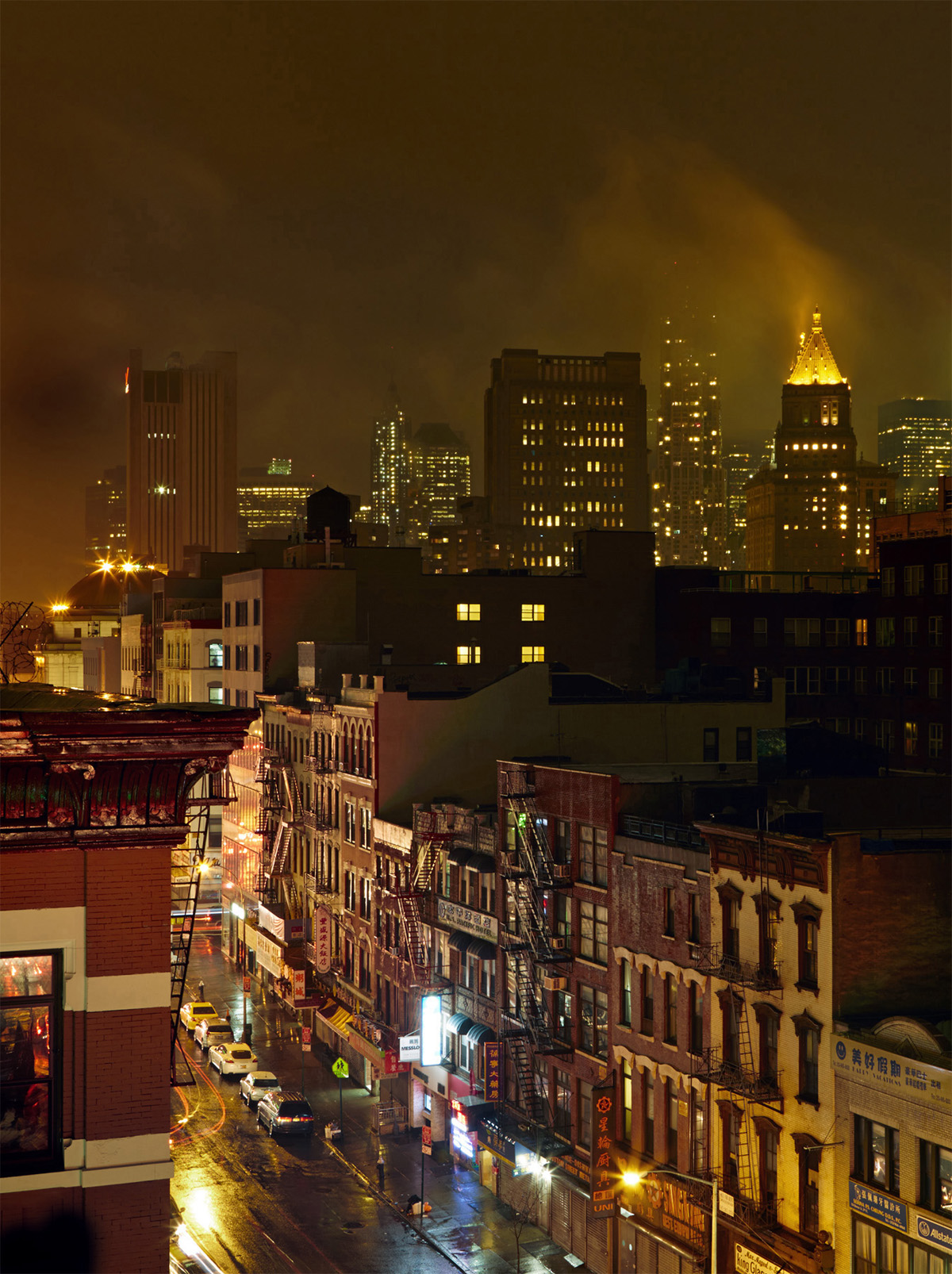Lea Meienberg New York Manhatten Bowery street Nachtaufnahme