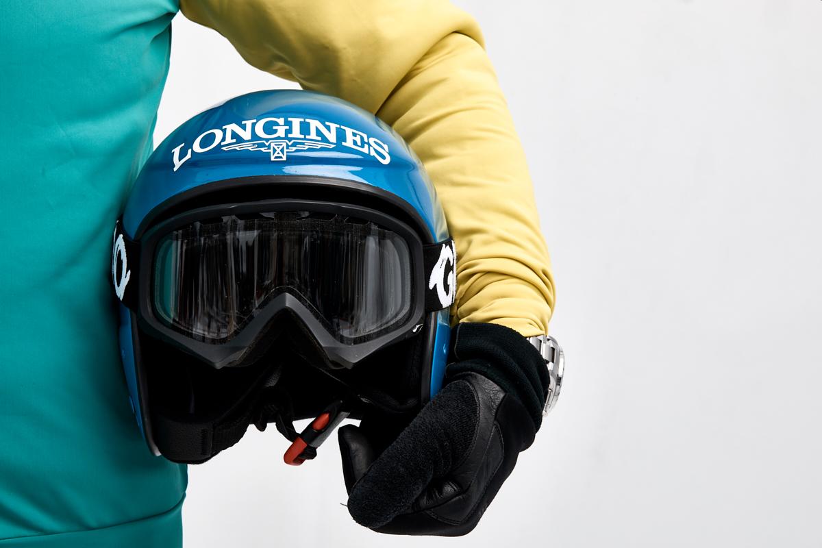 Remo Buess White Turf 2020 St. Moritz Skikjöring Franco Moro Helm